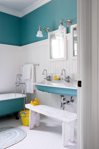 Accesorios De Baño Turquesa:Hermosos baños azules – Decorando el Hogar