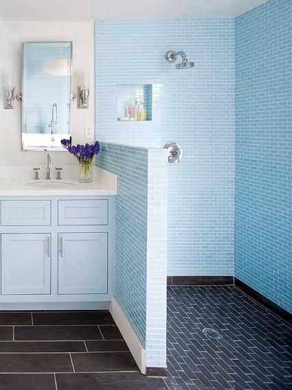 Imagenes De Baños Azules:si deseas un aspecto más dramático para tu cuarto de