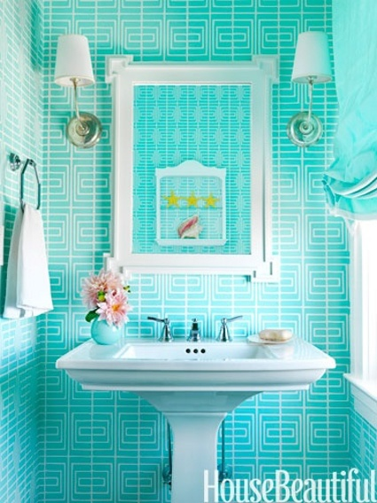 Baños Pequenos Turquesa:Hermosos baños azules – Decorando el Hogar