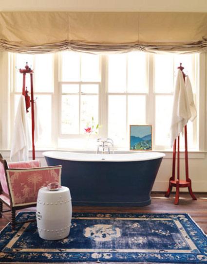 Imagenes De Baños Azules:si deseas un aspecto más dramático para tu cuarto de baño entonces