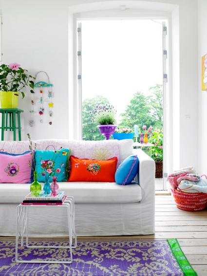 Juegos De Ordenar Baños:Bright Colors Living Room Pillows