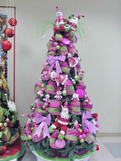 Navidad en azules fucsias y morados decorando el hogar - Decoracion para arboles navidenos ...