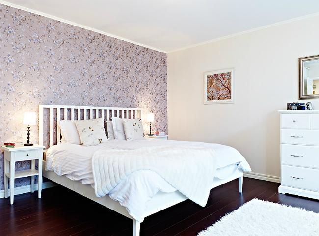 Puertas abiertas un dormitorio con pared de impacto de for Papel habitacion matrimonio