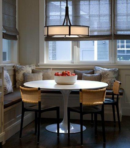 Banquetas en las esquinas un comedor en la cocina decorando el hogar - Banquetas para cocina ...