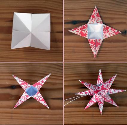 Hcer una estrella de papel imagui - Como hacer estrellas de navidad ...