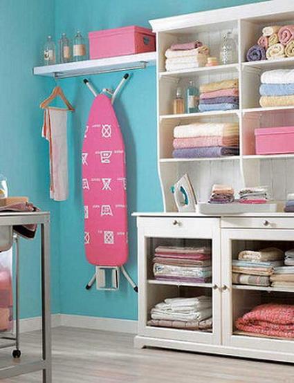 Orden en la zona de lavado y planchado decorando el hogar - Lavado y planchado ...