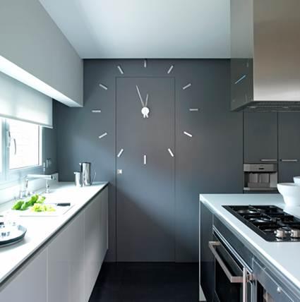 Relojes de cocina originales decorando el hogar - Relojes pared cocina ...