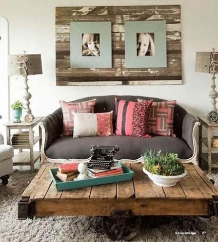Cuadros hechos con palets decorando el hogar - Cuadros con palets ...