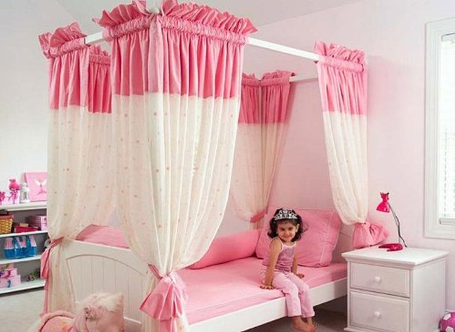 Camas infantiles con dosel un acierto o un garrafal error decorando el hogar - Dosel para cama nina ...
