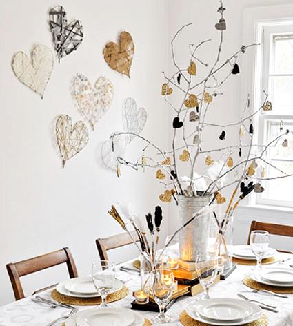 Centro de mesa minimalista para san valent n decorando for Decoracion de pared para san valentin