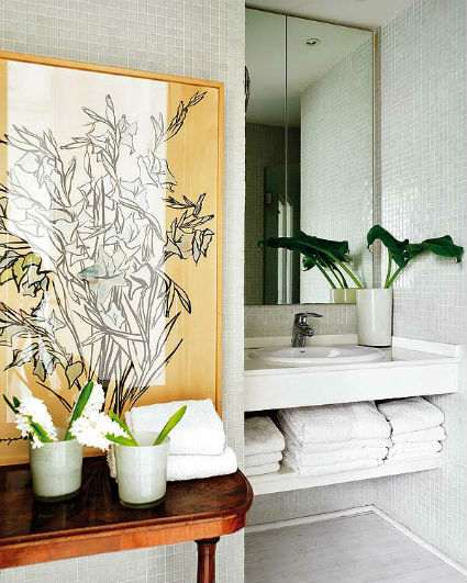 Aseos peque os llenos de estilo decorando el hogar for Aseos modernos pequenos