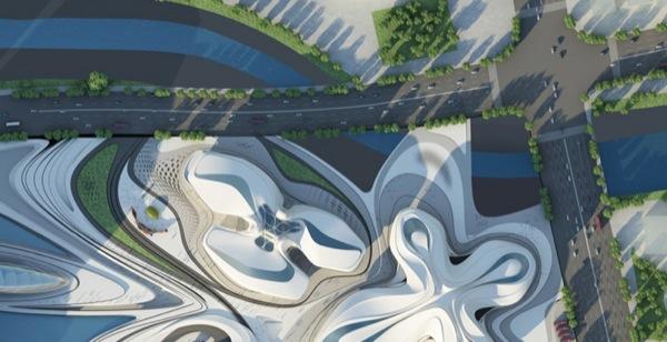 vista superior Centro-Arte-Cultura-Changsha-Zaha_Hadid