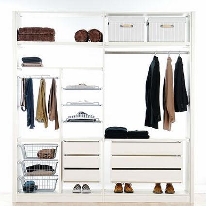 Roperos bien ordenados decorando el hogar - Organizar armarios empotrados ...