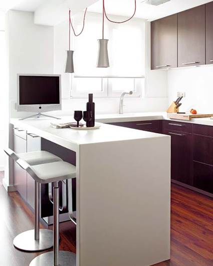 Beneficios de las barras americanas en la cocina decorando el hogar - Barra americana para cocina ...