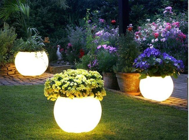luces patio exterior