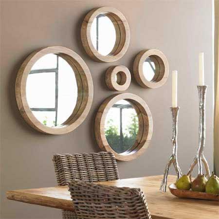 espejos decorativos decorando el hogar