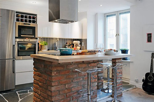Tipos de pisos para decorar una cocina - Cocinas para pisos pequenos ...