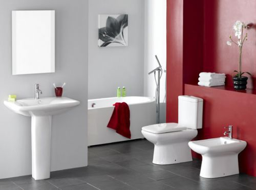 Decoracion Baños Colores:Red Bathroom Paint Color Ideas
